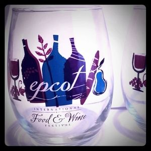 Epcot food and Wine Stemless Glasses